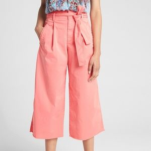 NEW GAP Wide Leg High Rise Cropped Pants Pink